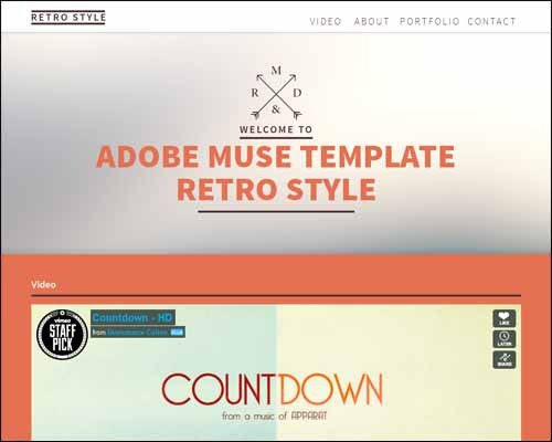 Adobe Muse Free Templates Responsive Adobe Muse Templates & themes