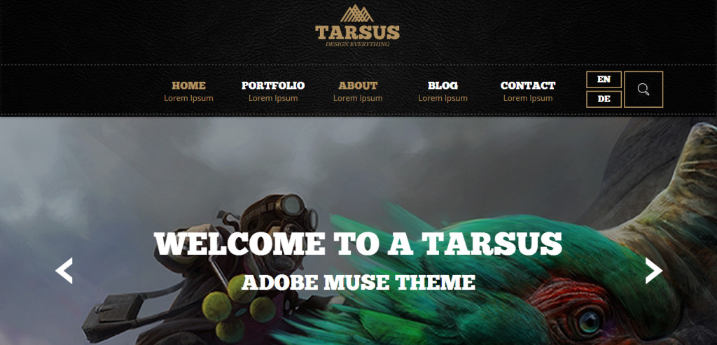 Adobe Muse Portfolio Templates 48 Best Adobe Muse Templates