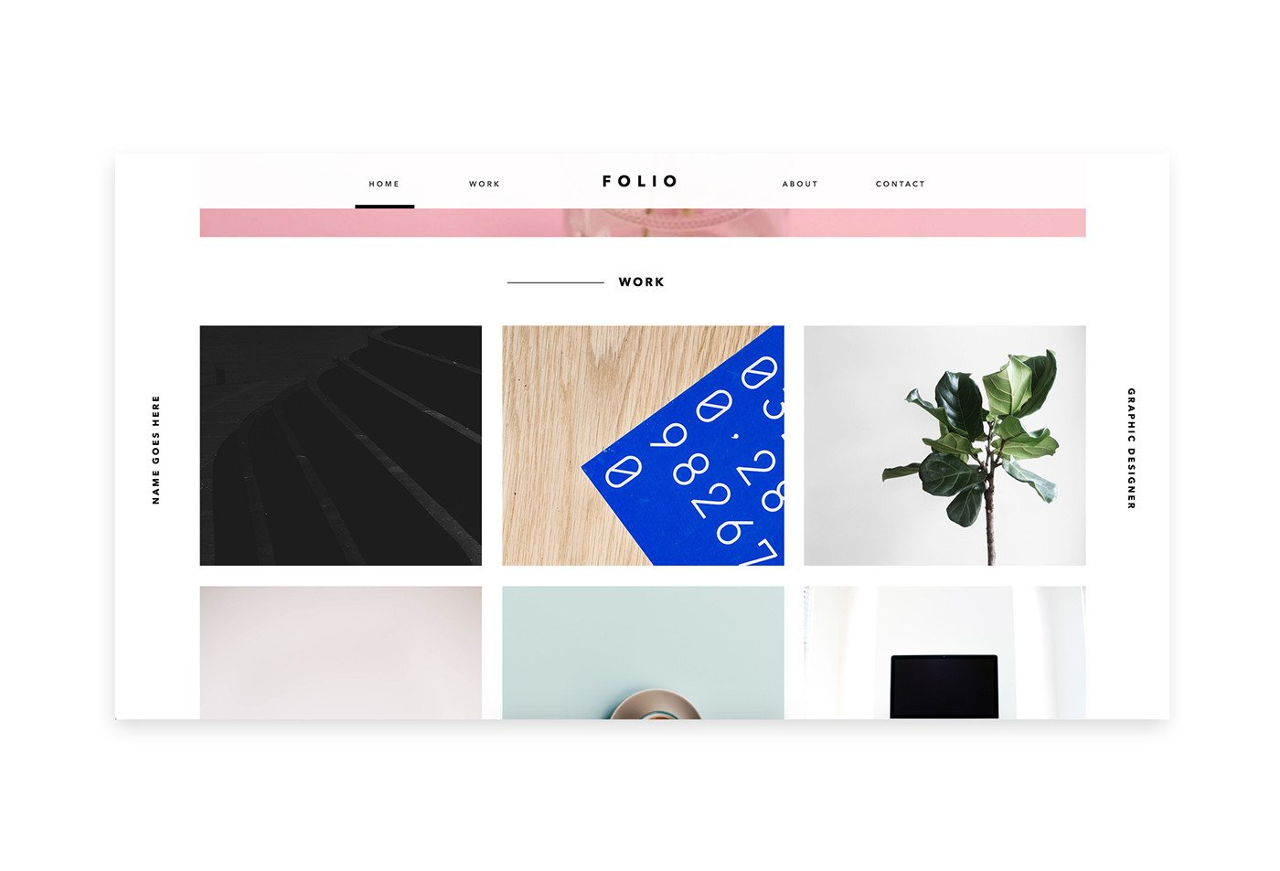 Adobe Muse Portfolio Templates Folio 1 Adobe Muse Template On Behance