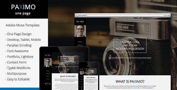 Adobe Muse Portfolio Templates Free and Premium Responsive Adobe Muse Templates