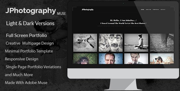 Adobe Muse Portfolio Templates J Graphy Minimal Graphy Portfolio Muse Template