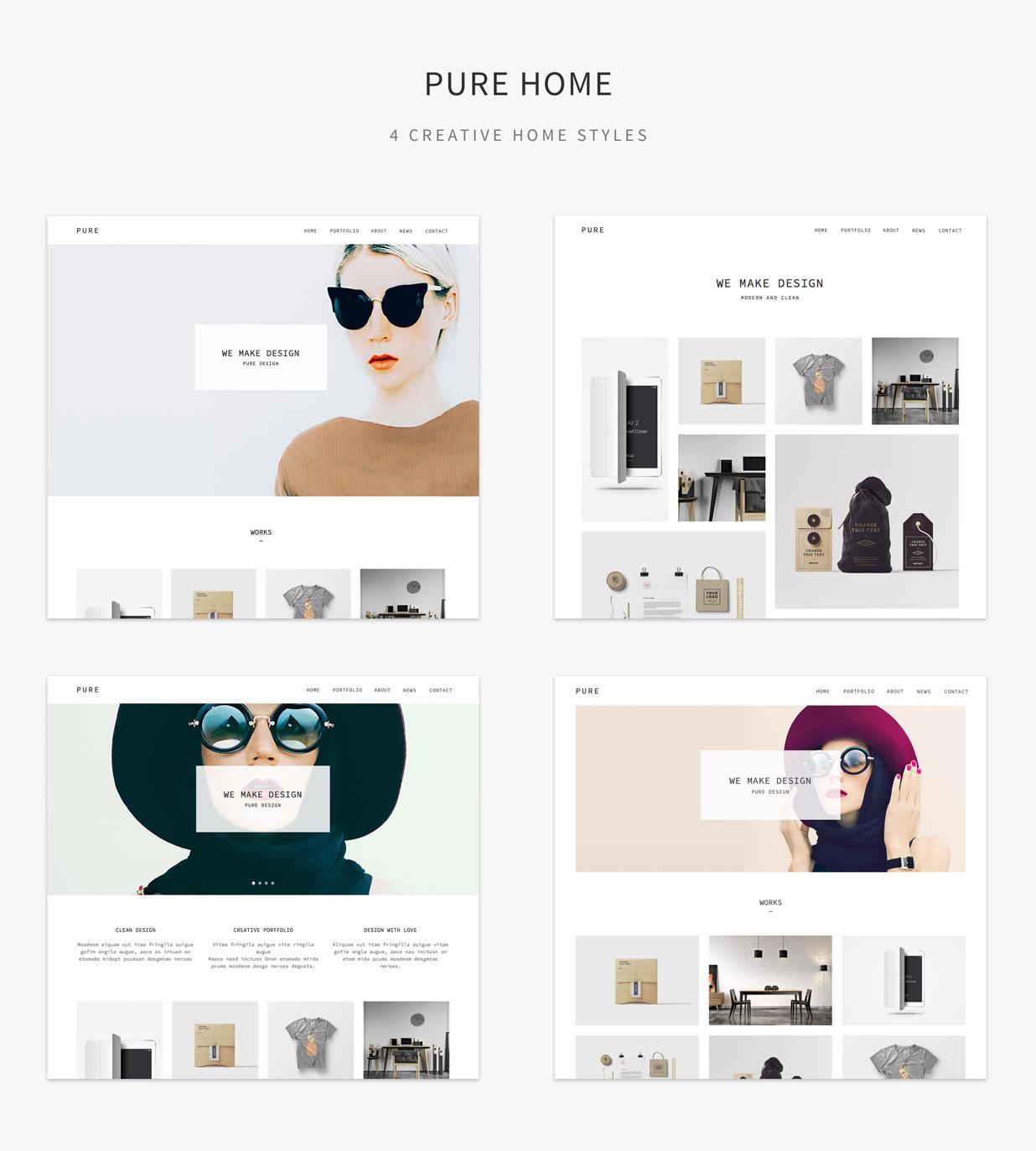 Adobe Muse Portfolio Templates Pure Responsive Creative Portfolio Muse Template by