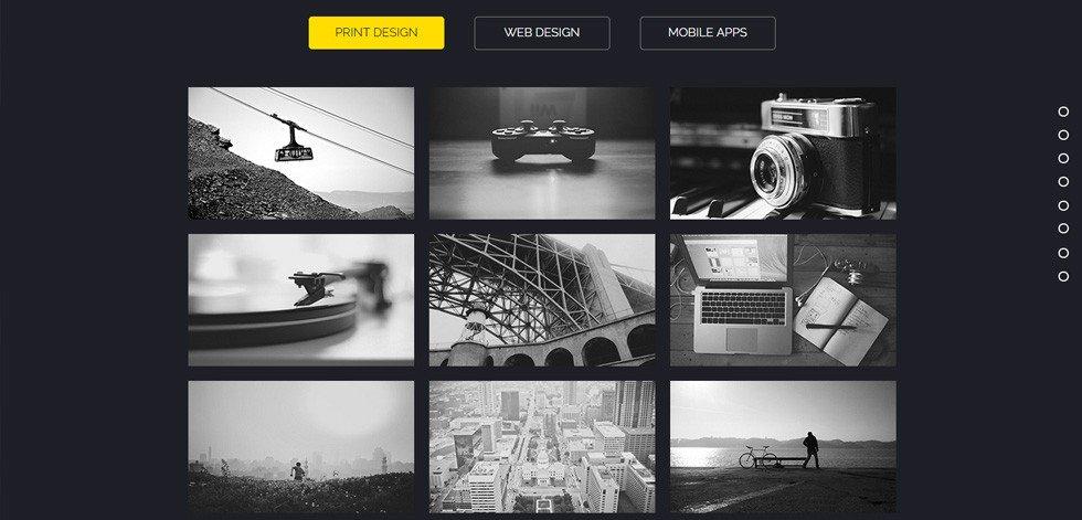 Adobe Muse Portfolio Templates Rombo Premium Multipurpose Portfolio Muse Template