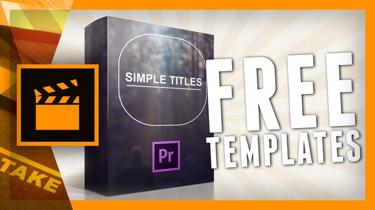 Adobe Premiere Intro Templates Designer Pack Simple Titles for Premiere Pro