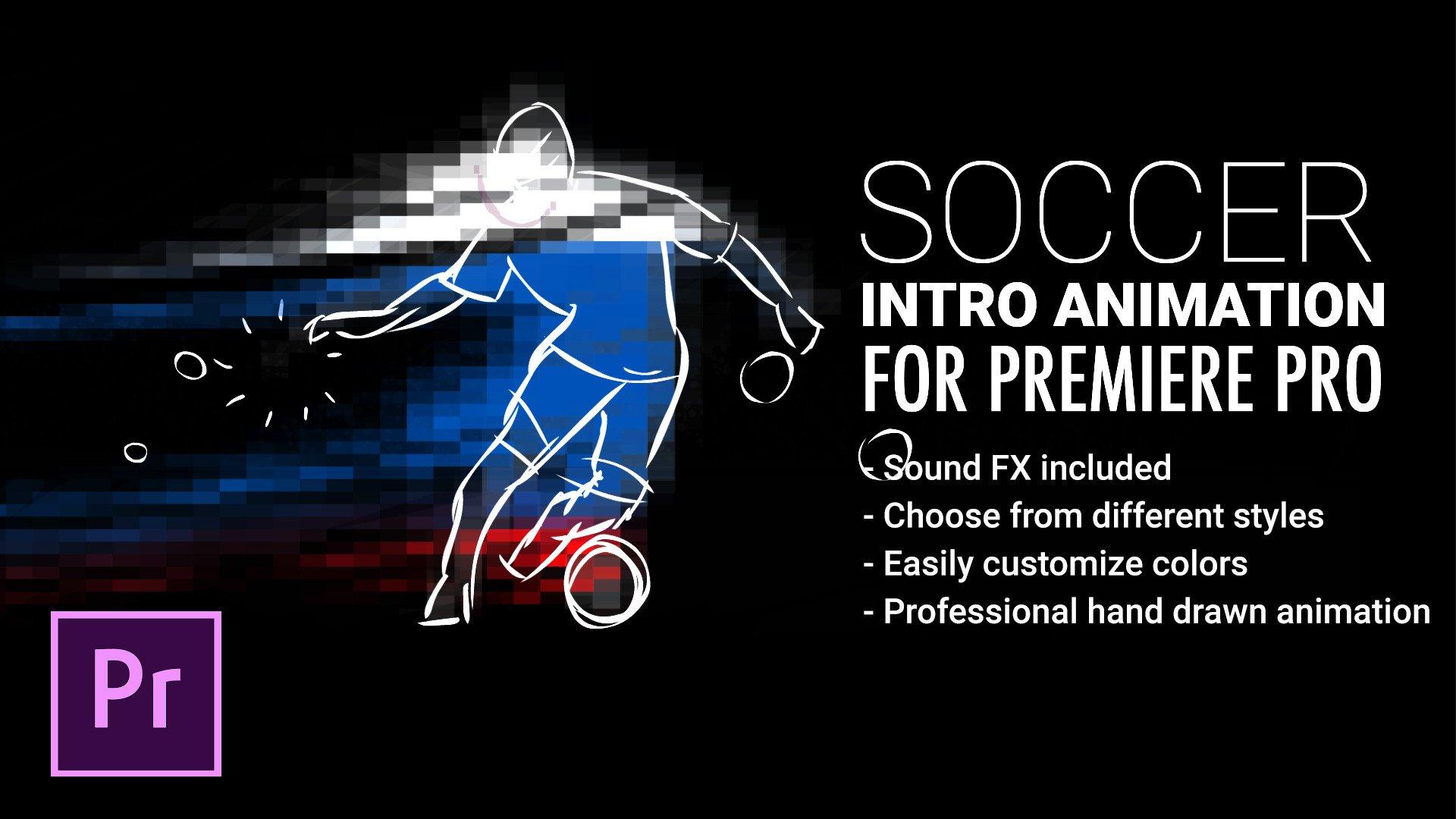 Adobe Premiere Intro Templates soccer Intro Animation for Premiere Pro by Snowcake