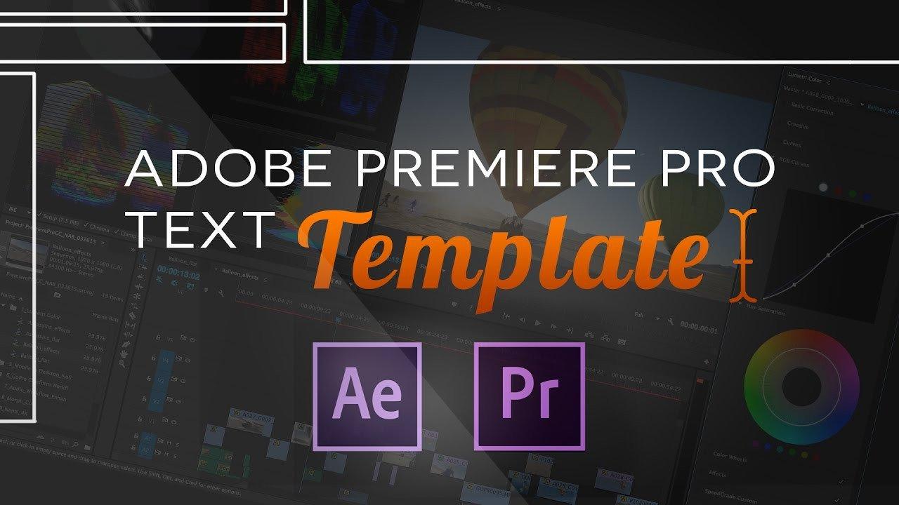 Adobe Premiere Intro Templates Text Templates for Adobe Premiere Pro Cc