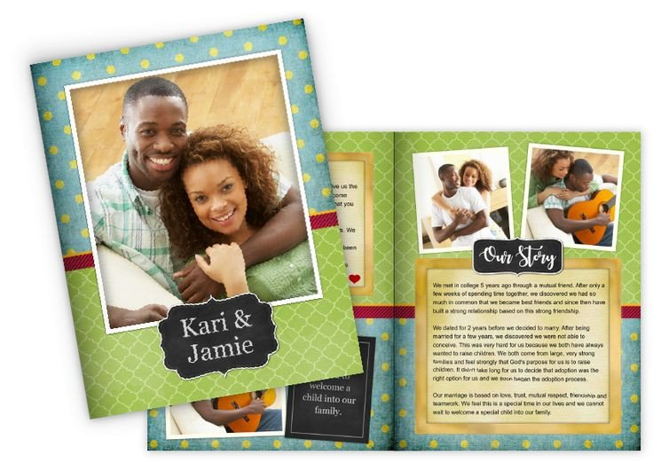 Adoption Profile Book Template 13 Best Booklets Images On Pinterest