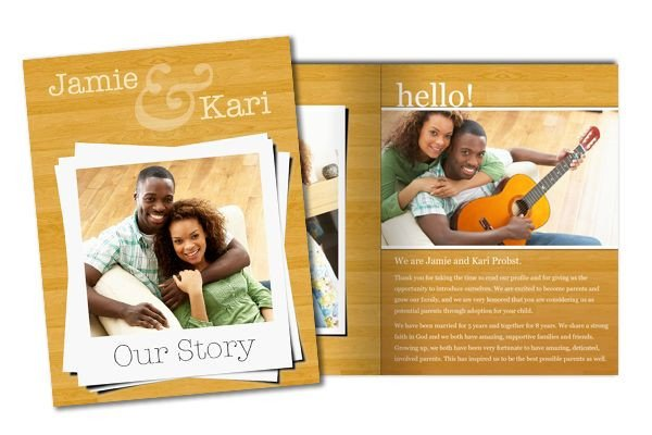 Adoption Profile Book Template 8 5x11 Family Story and Adoption Profile Booklet Template
