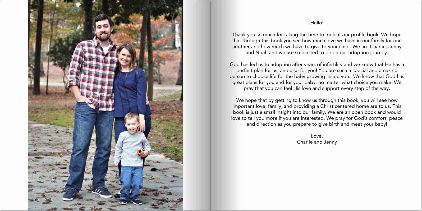 Adoption Profile Book Template Cloth Diaper Revival Our Adoption Profile Book