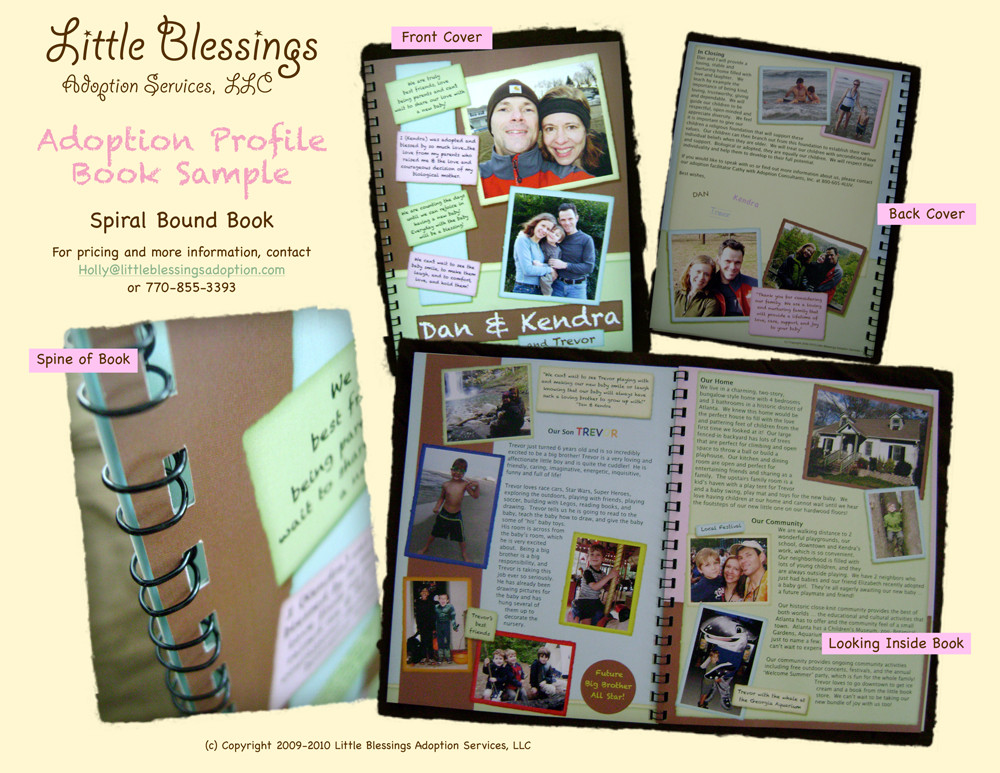 Adoption Profile Book Template Spiral Bound Adoption Profile Book