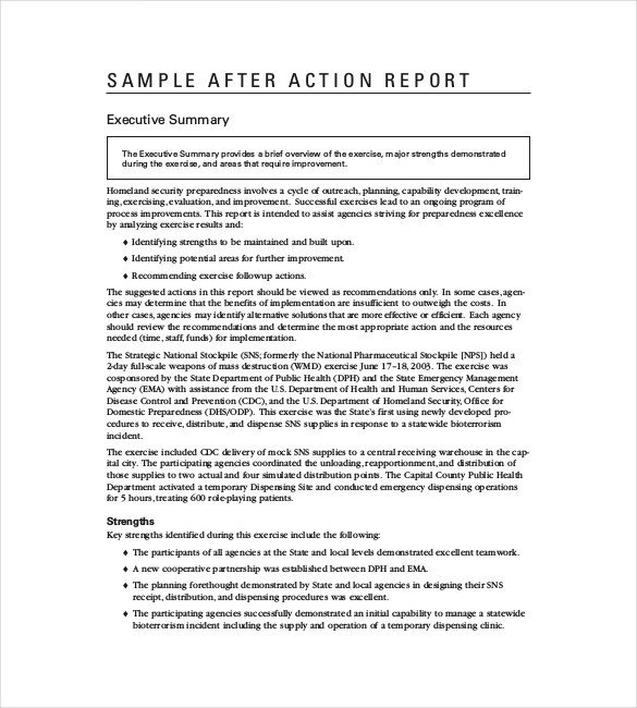 After Action Report Template 61 Report Templates Pdf Word Pages Excel