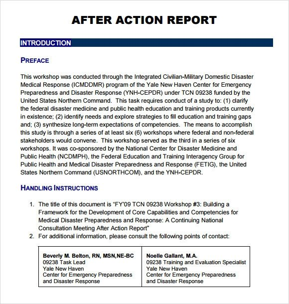 After Action Report Template Sample after Action Report 11 Documents In Pdf Google