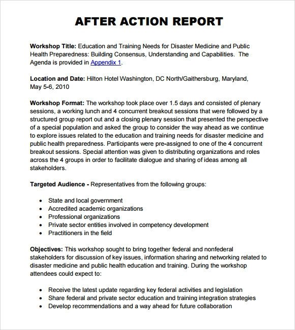 After Action Report Template Sample after Action Report 8 Documents In Pdf Word Docs