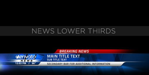 After Effect Lower Third Template 20 Professional after Effects Lower Third Templates