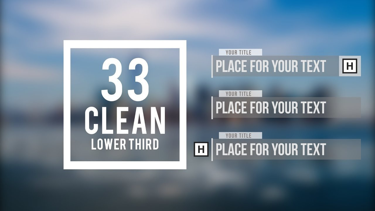 After Effect Lower Third Template Adobe after Effects 33 Clean Lower Third Free Template