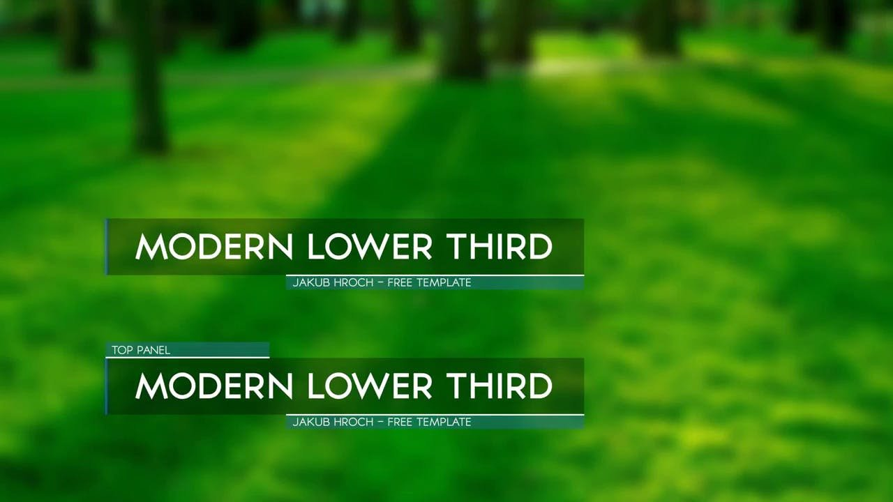 After Effect Lower Third Template Download 8 Free Lower Thirds Templates and Projects