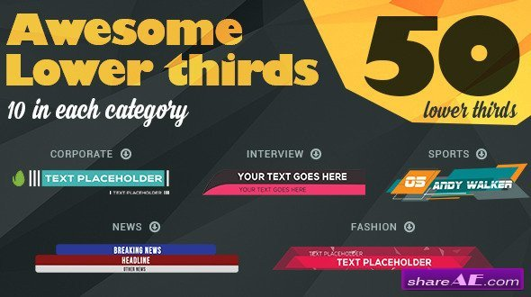 After Effect Lower Third Template Lower Third after Effects Templates Videohive