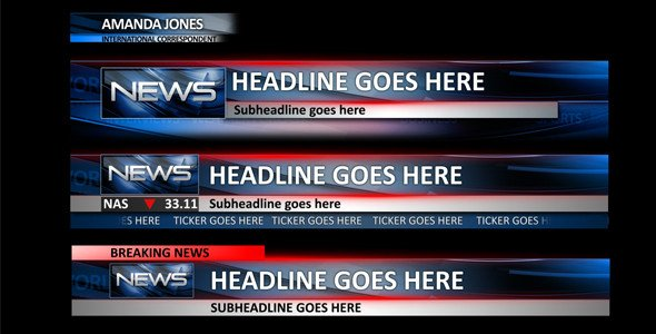 After Effect Lower Third Template News Lower Thirds News after Effects Templates
