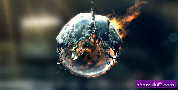 After Effects Templates Free Download Fire & Water Logo after Effects Project Videohive