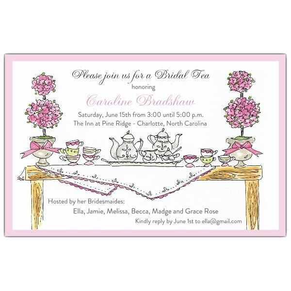 Afternoon Tea Menu Template Free afternoon Tea Invitation Template