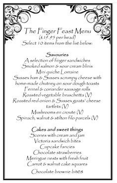 Afternoon Tea Menu Template Sample afternoon Tea Menus Google Search