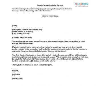 Agent Termination Letter Sample Sample Termination Letters