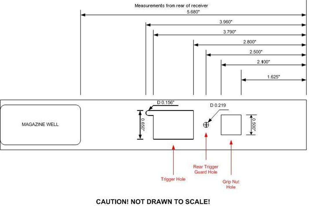 Ak 47 Receiver Template Ak 47 Receiver Blueprint Frompo 1