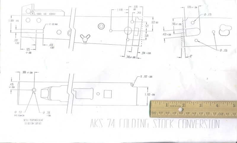 Ak Receiver Drilling Template 23 Of Ak 74 Template