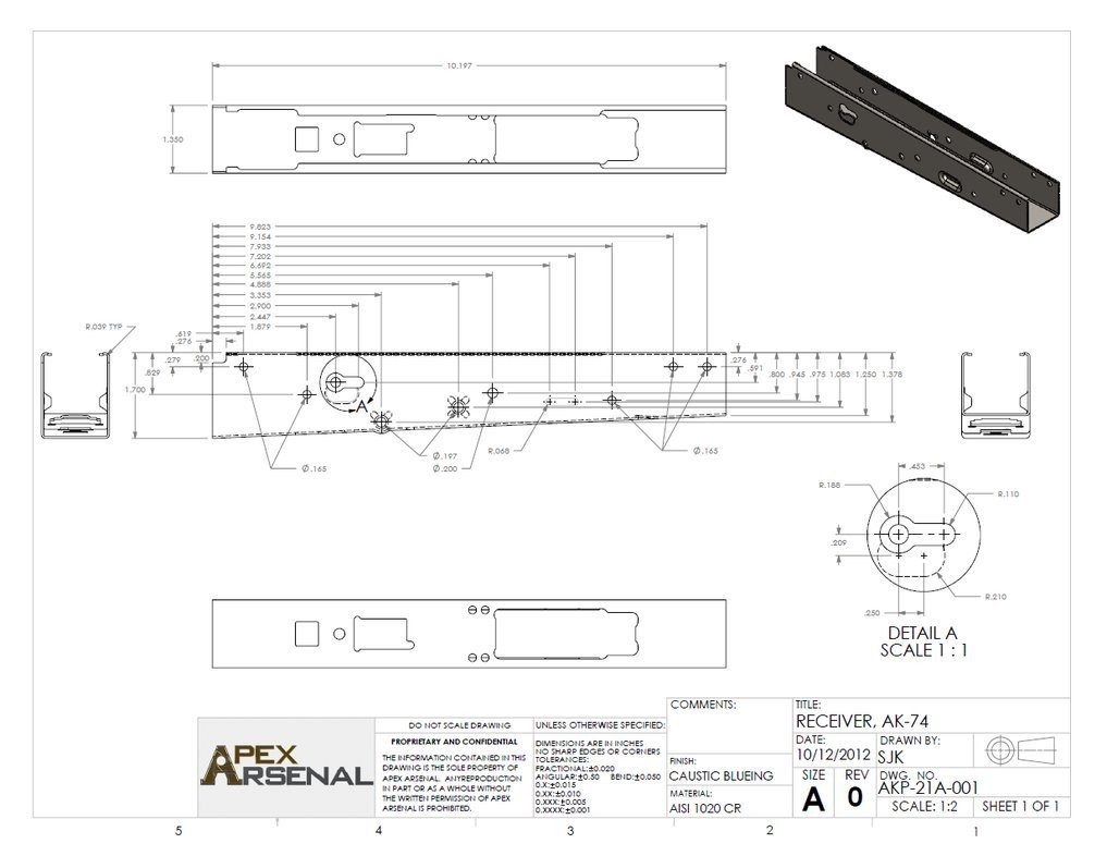 Ak Receiver Drilling Template Ak 74 Print by Gundamgpo3 On Deviantart