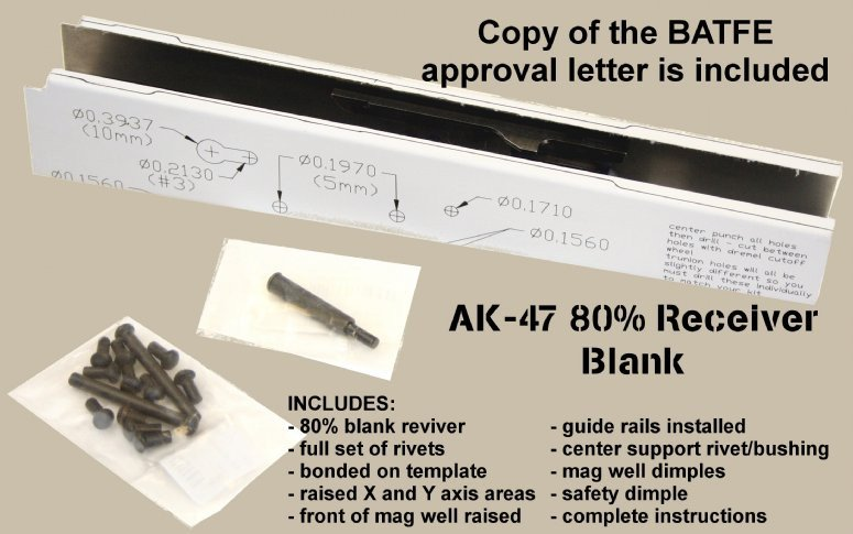 Ak Receiver Drilling Template Batf Approved Ak47 Receivers W Rails Installed Rivets