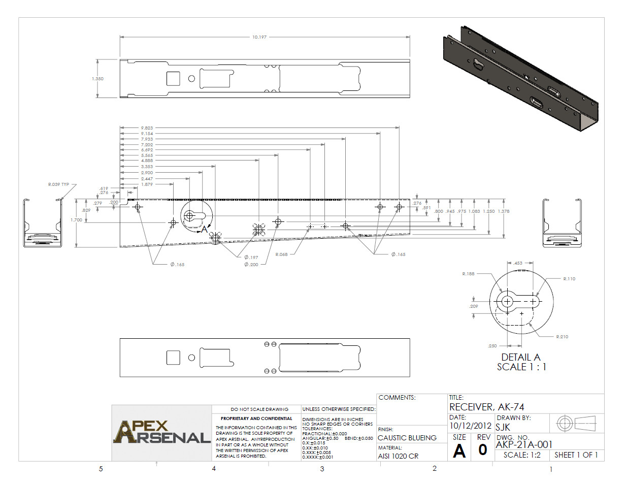 Ak Receiver Template Ak 74 Print by Gundamgpo3