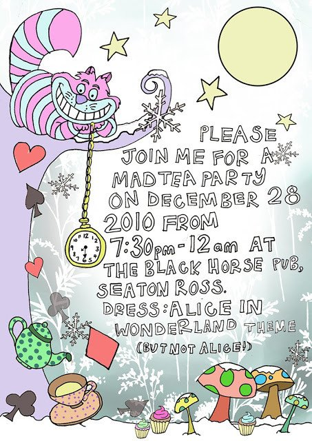 Alice In Wonderland Invitations Templates 40th Birthday Ideas Alice In Wonderland Birthday