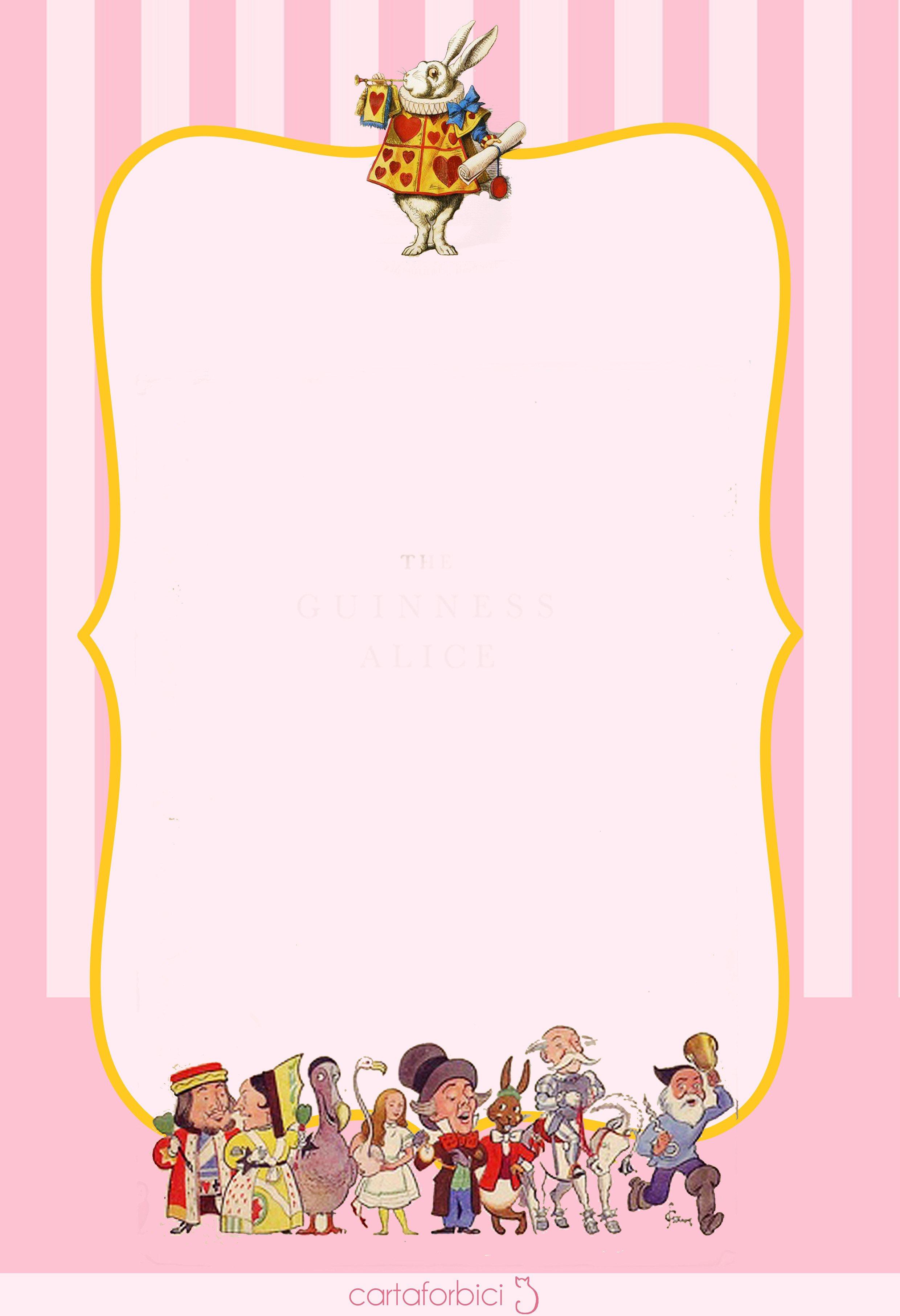 Alice In Wonderland Invitations Templates Alice In Wonderland Birthday Invitations – Free Printable