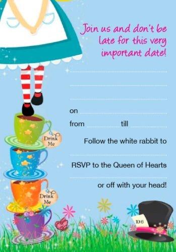 Alice In Wonderland Invitations Templates Alice In Wonderland Blank Invites