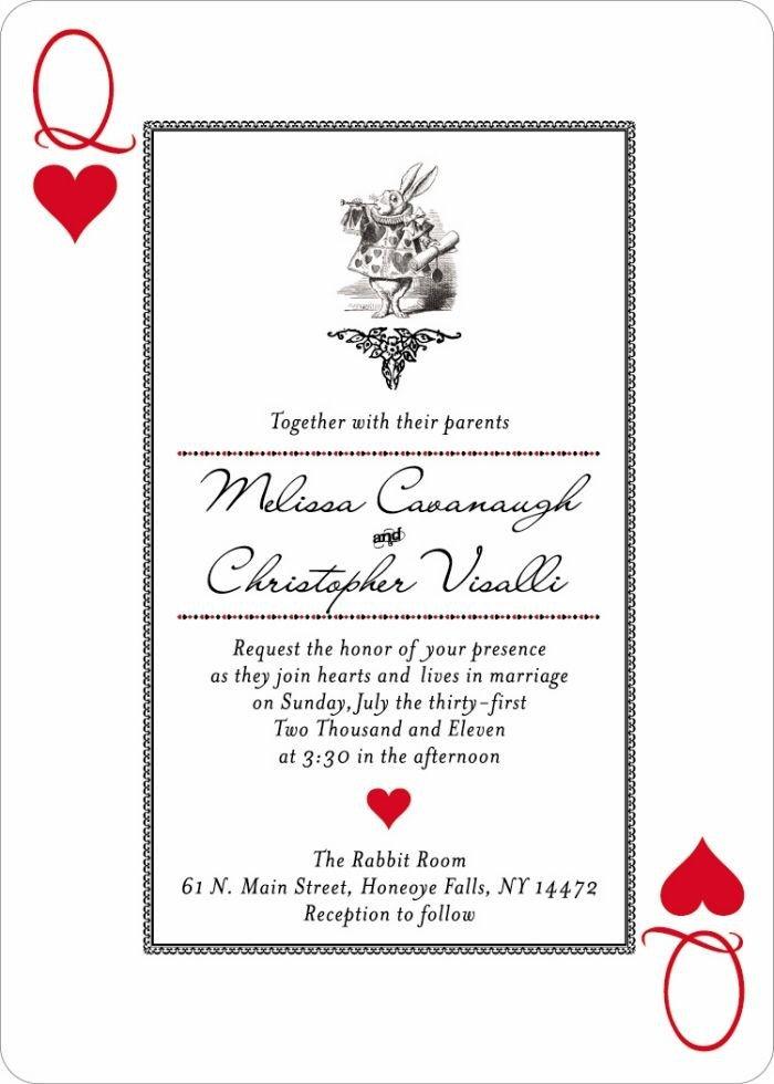 Alice In Wonderland Invitations Templates Invitation Wording Idea Alice In Wonderland