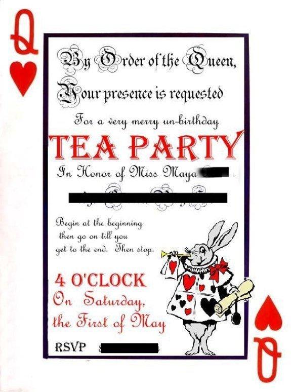 Alice In Wonderland Invitations Templates Pdf Of Alice In Wonderland themed Invite Templates