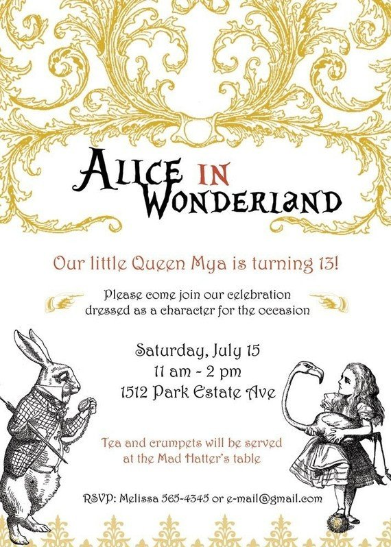 Alice In Wonderland Invitations Templates the Paper Nest Co Mad Hatter Party Ideas How to Throw
