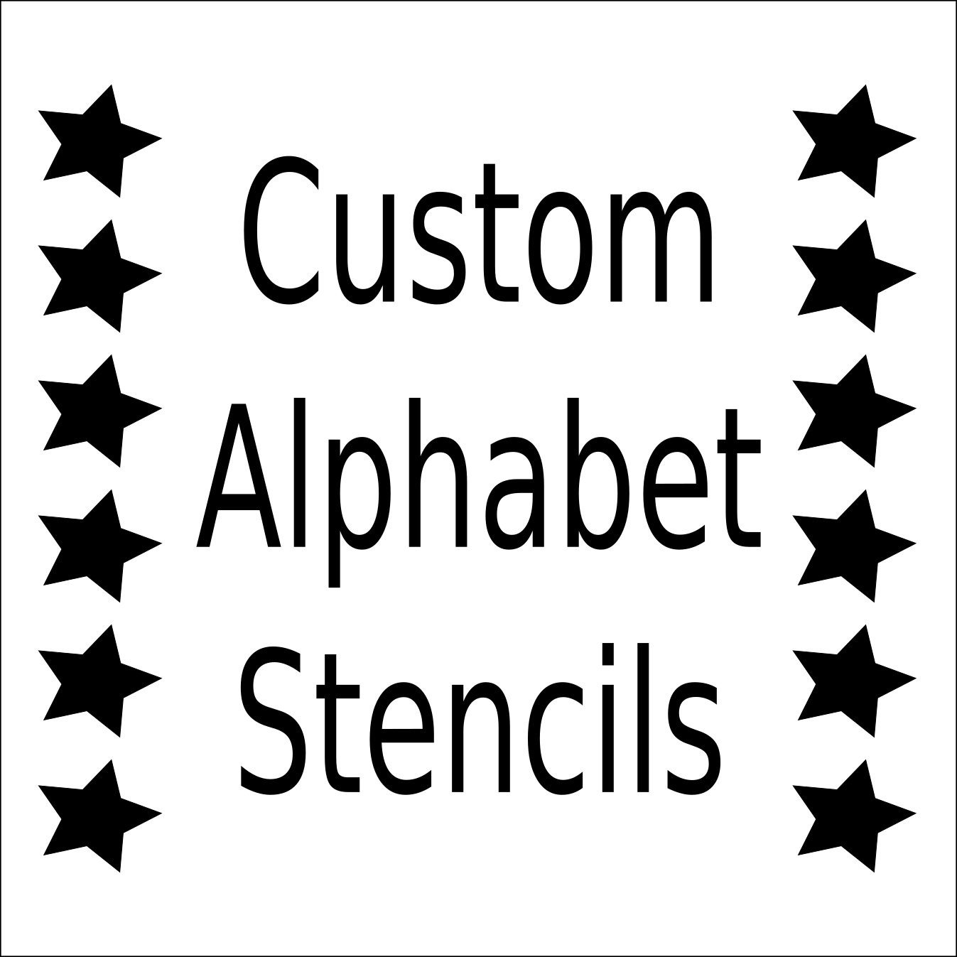 Alphabet Stencils for Painting Alphabet Stencil Letter Stencil Any Font Small to