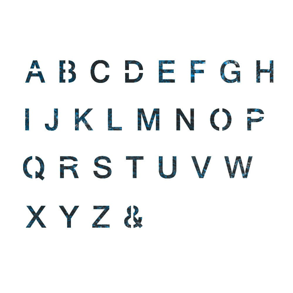 Alphabet Stencils for Painting Alphabet Stencil Reusable Template for Wall Art Crafting