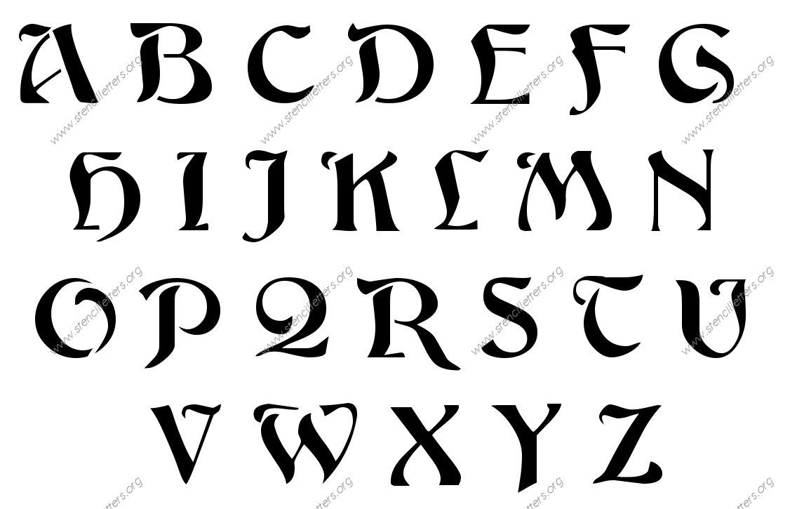 Alphabet Stencils for Painting Custom Made Alphabet and Number Stencils 1 4 to 12 Inch