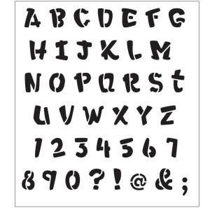 Alphabet Stencils for Painting Folkart Alphabet Heavy Marker Laser Painting Stencils