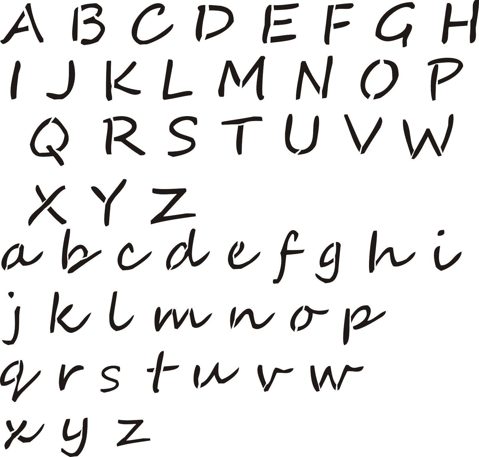Alphabet Stencils for Painting Letter Stencil Farmhouse Style – Walls Stencils Plaster