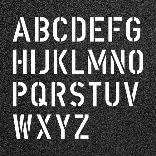 Alphabet Stencils for Painting Letter Stencil Kit