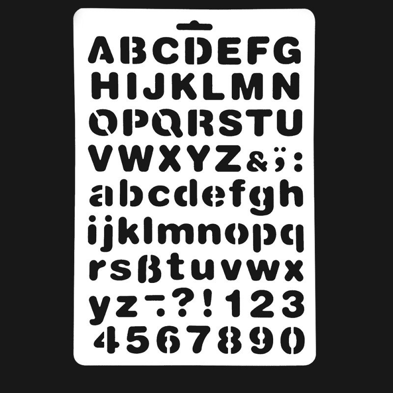 Alphabet Stencils for Painting Lettering Stencil Letter Alphabet Stencils Painting Paper