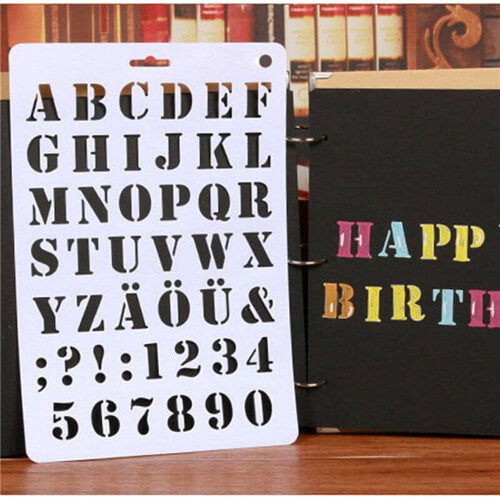 Alphabet Stencils for Painting Nice Letter Alphabet Number Stencils Painting Scrapbooking