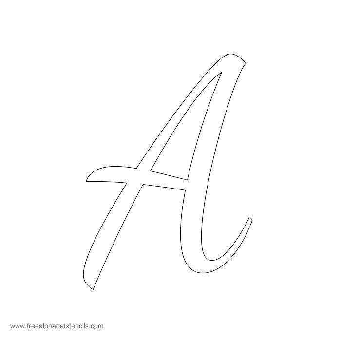 Alphabet Stencils for Painting Read Article 1950s Casual Cursive Alphabet Stencils