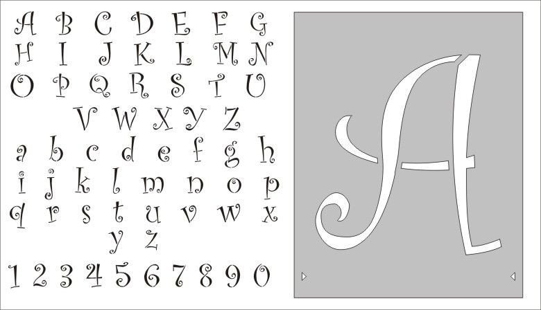 Alphabet Stencils for Painting Stencils Free Entire Alphabet