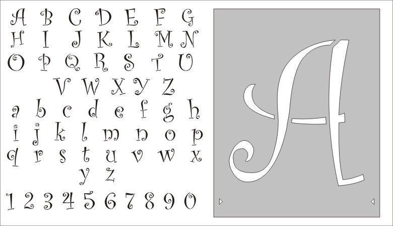 Alphabet Stencils for Painting Stencils Free Entire Alphabet