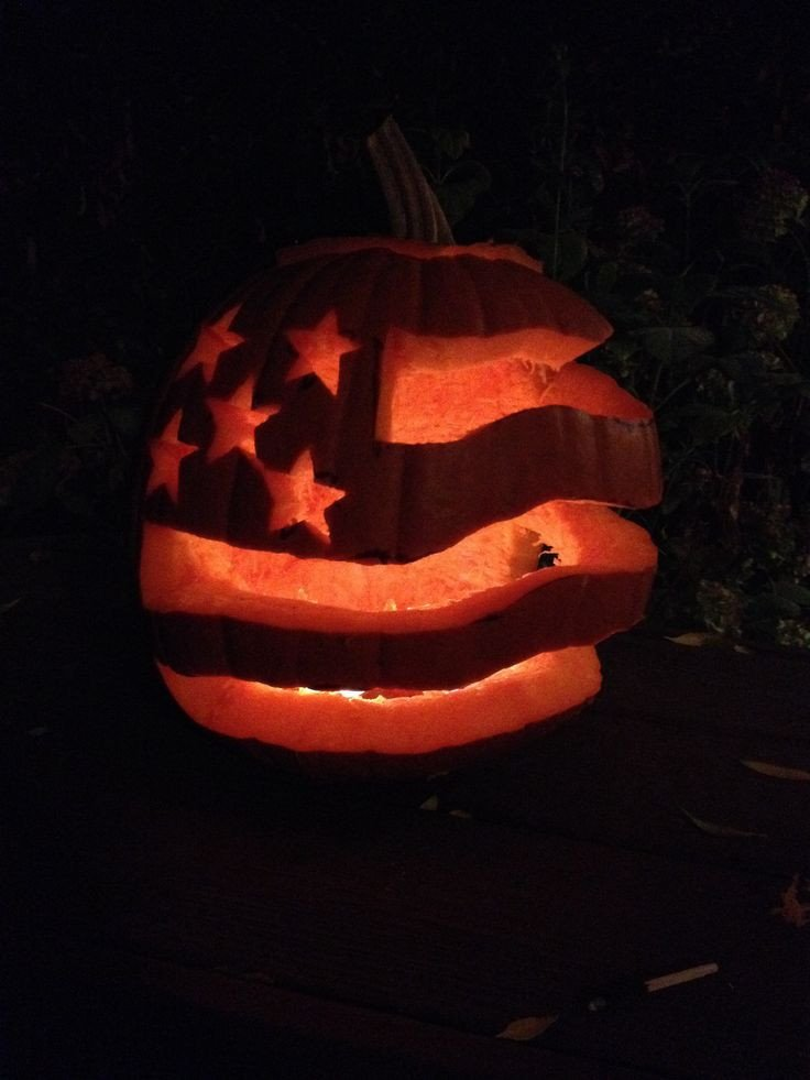American Flag Pumpkin Carving Template American Flag Flags and Pumpkins On Pinterest