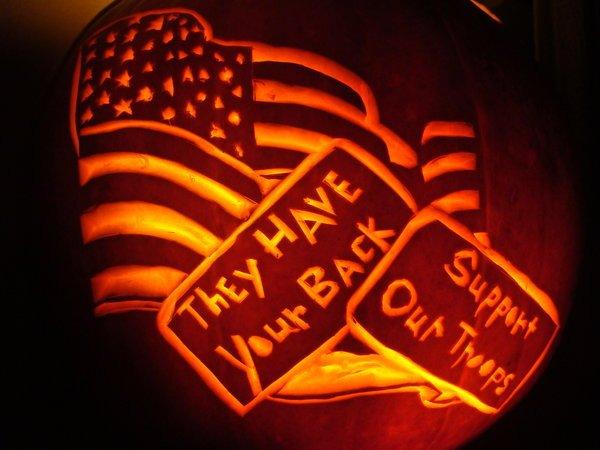 American Flag Pumpkin Carving Template American Flag Pumpkin Carving by Distantvisions On Deviantart